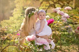 Mutter Tochter Fotoshooting