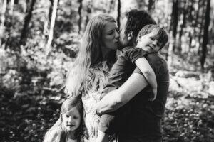 Schwangerschaftsfotos mit der Familie
