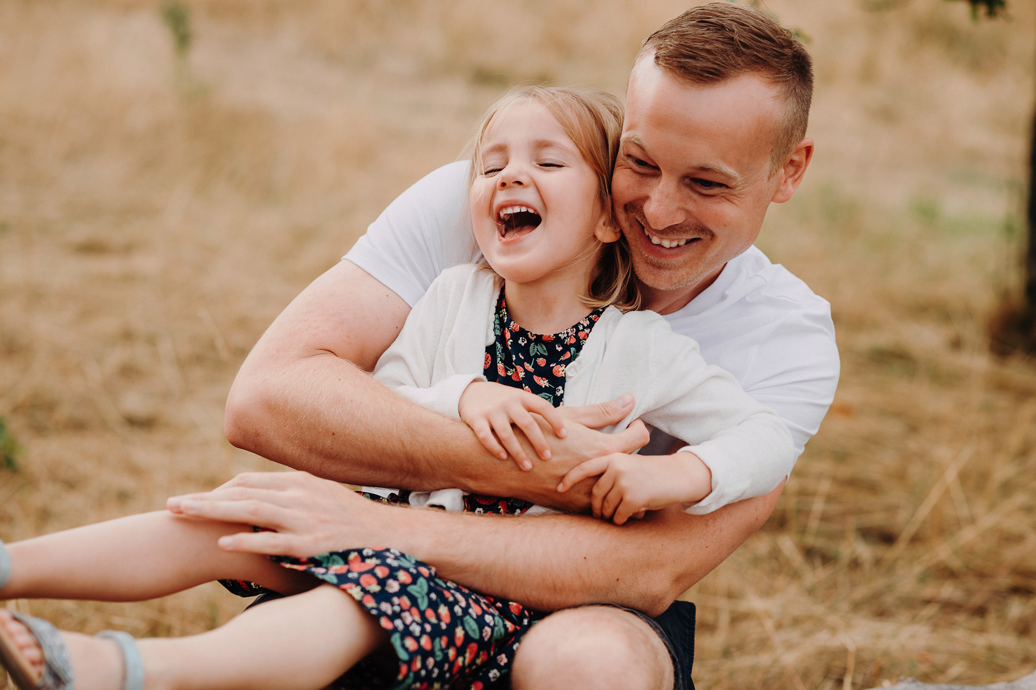 Papa und Tochter